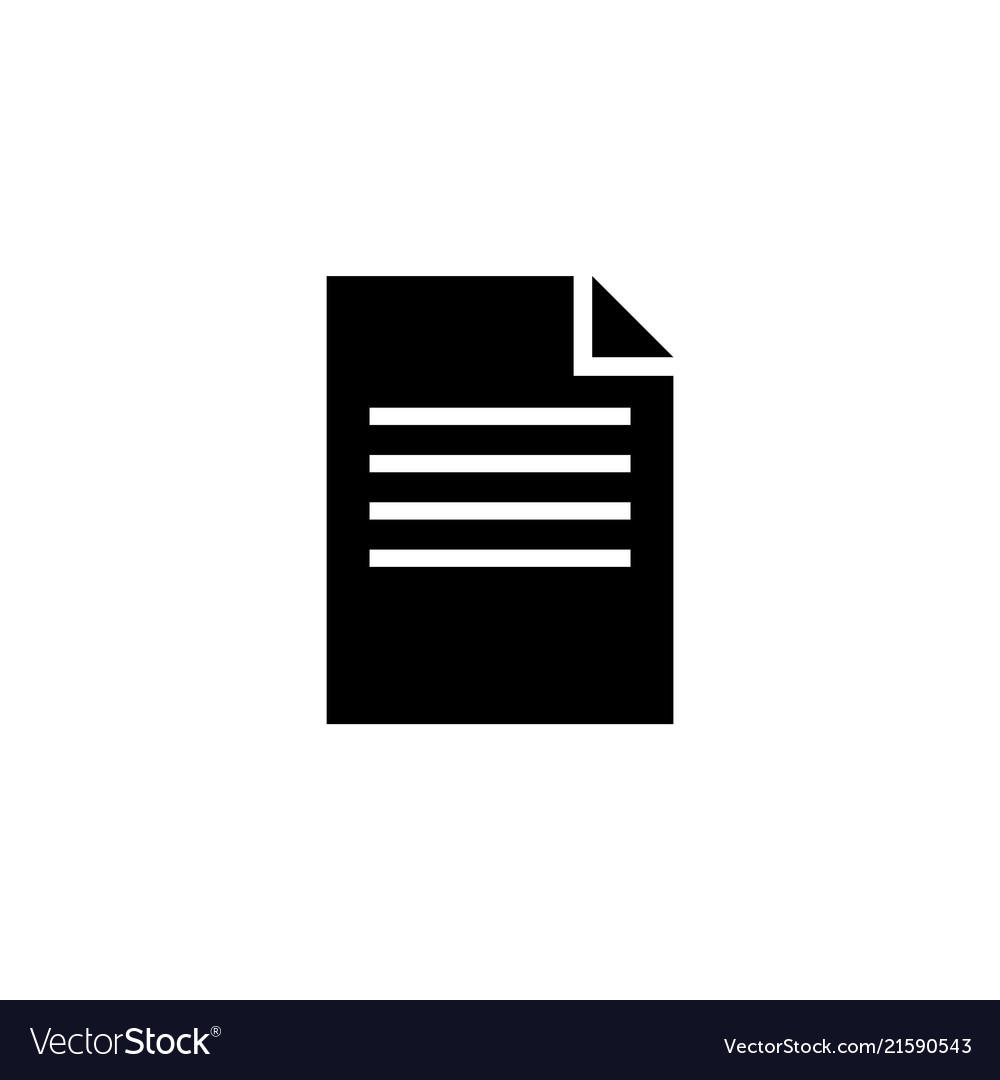 Contract document flat icon