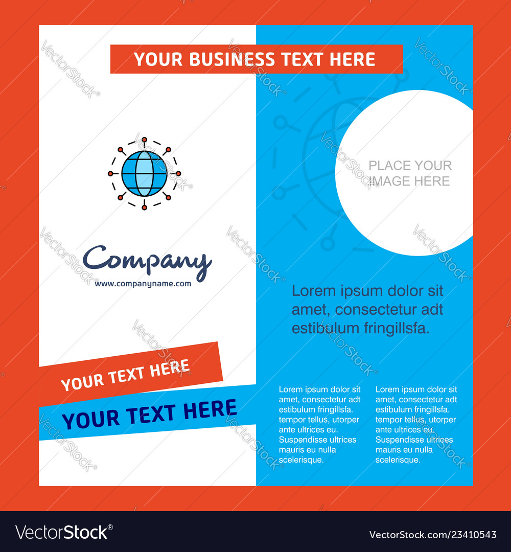 Globe company brochure template busienss template