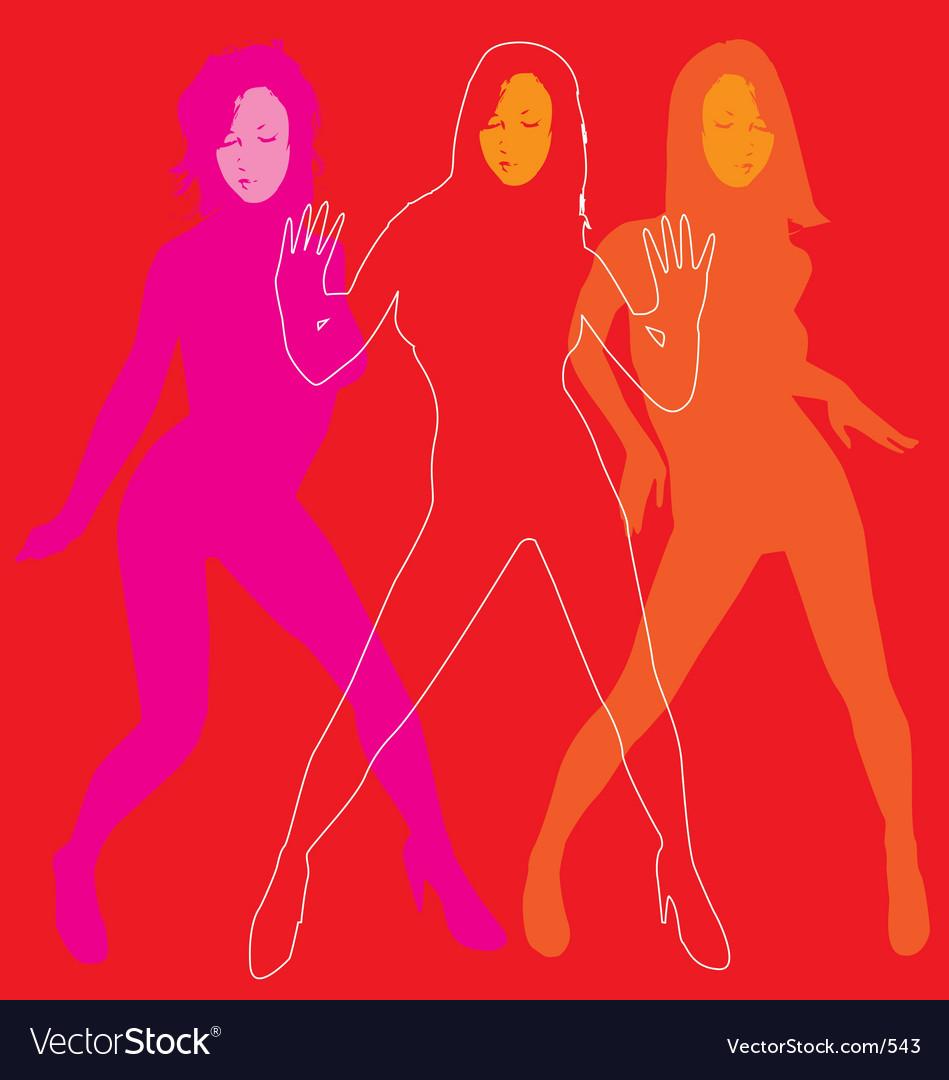 Lets dance vector image