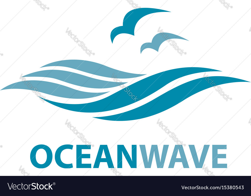 ocean wave logo royalty free vector image vectorstock rh vectorstock com wave logo design inspiration wave logo design inspiration