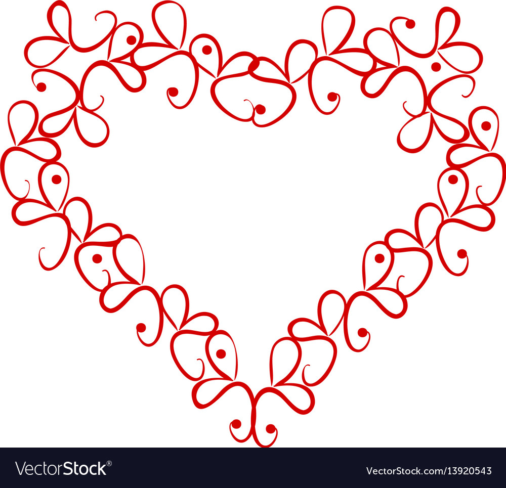 Vintage heart on a white background