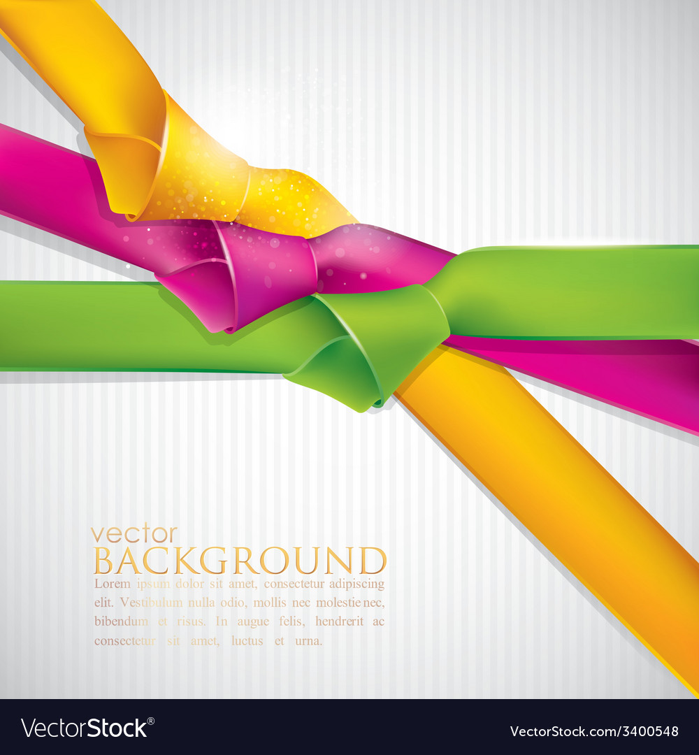 Abstract background with multicolored ribbons