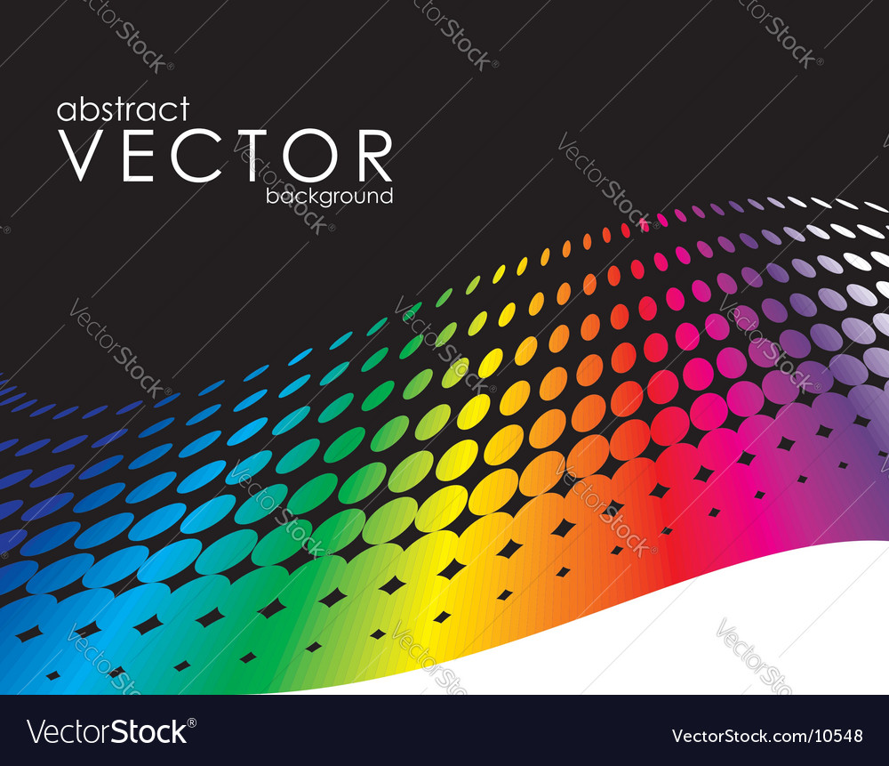 Abstract background with rainbow circle