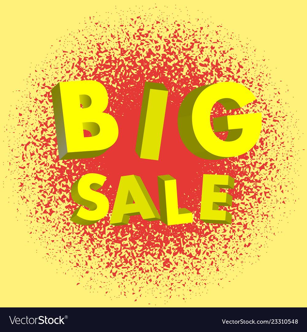 Big sale lettering 3d modern background