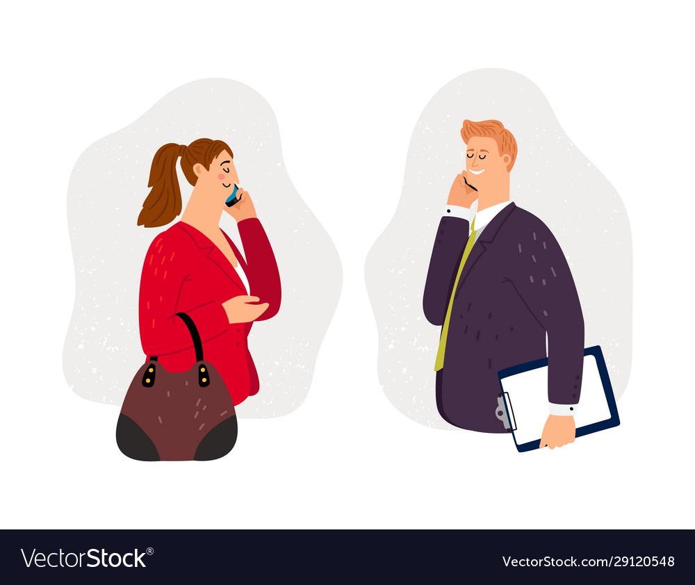 Business conversation on phone