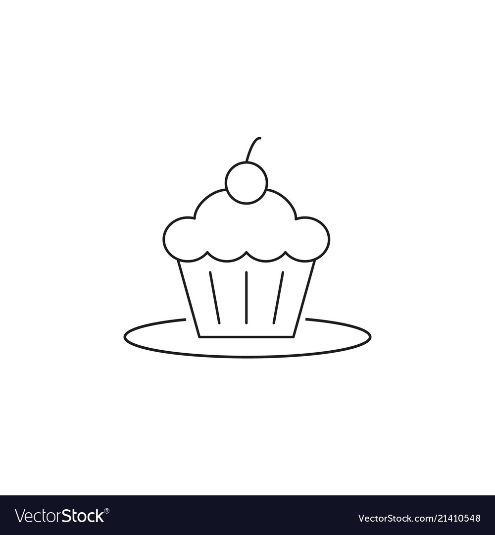 Cake on plate icon