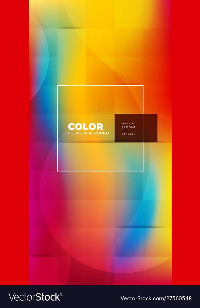 Liquid color background design with square cells