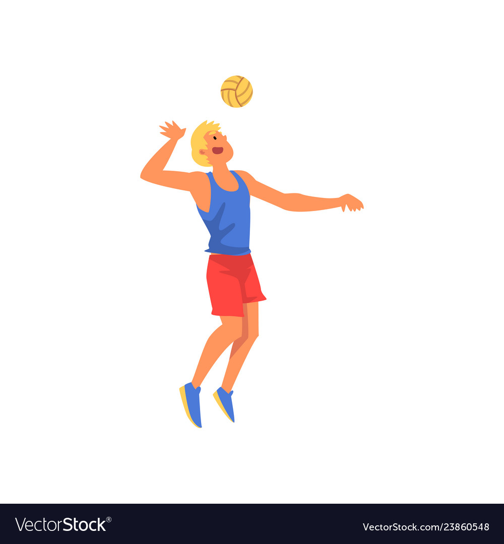 Man playing with ball wearing sports uniform