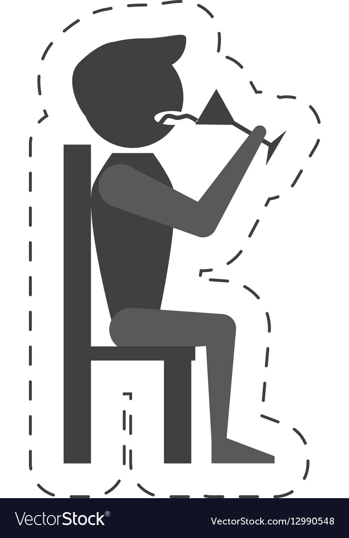 Man sit drink wine icon