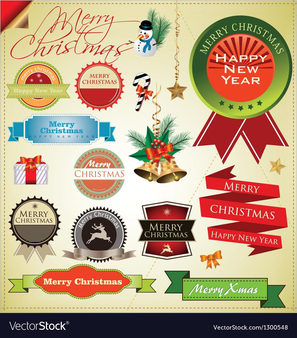 Merry christmas elements