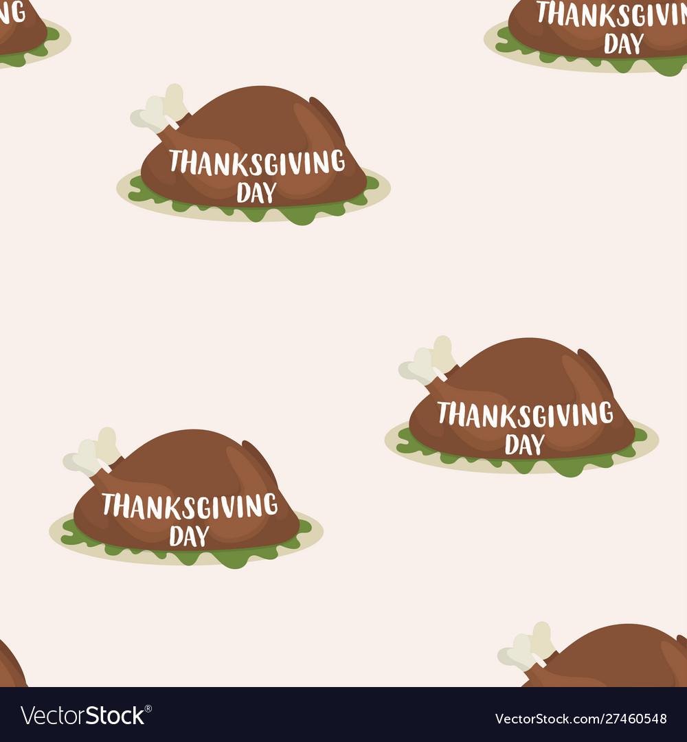 Pattern roast turkey for thanksgiving day