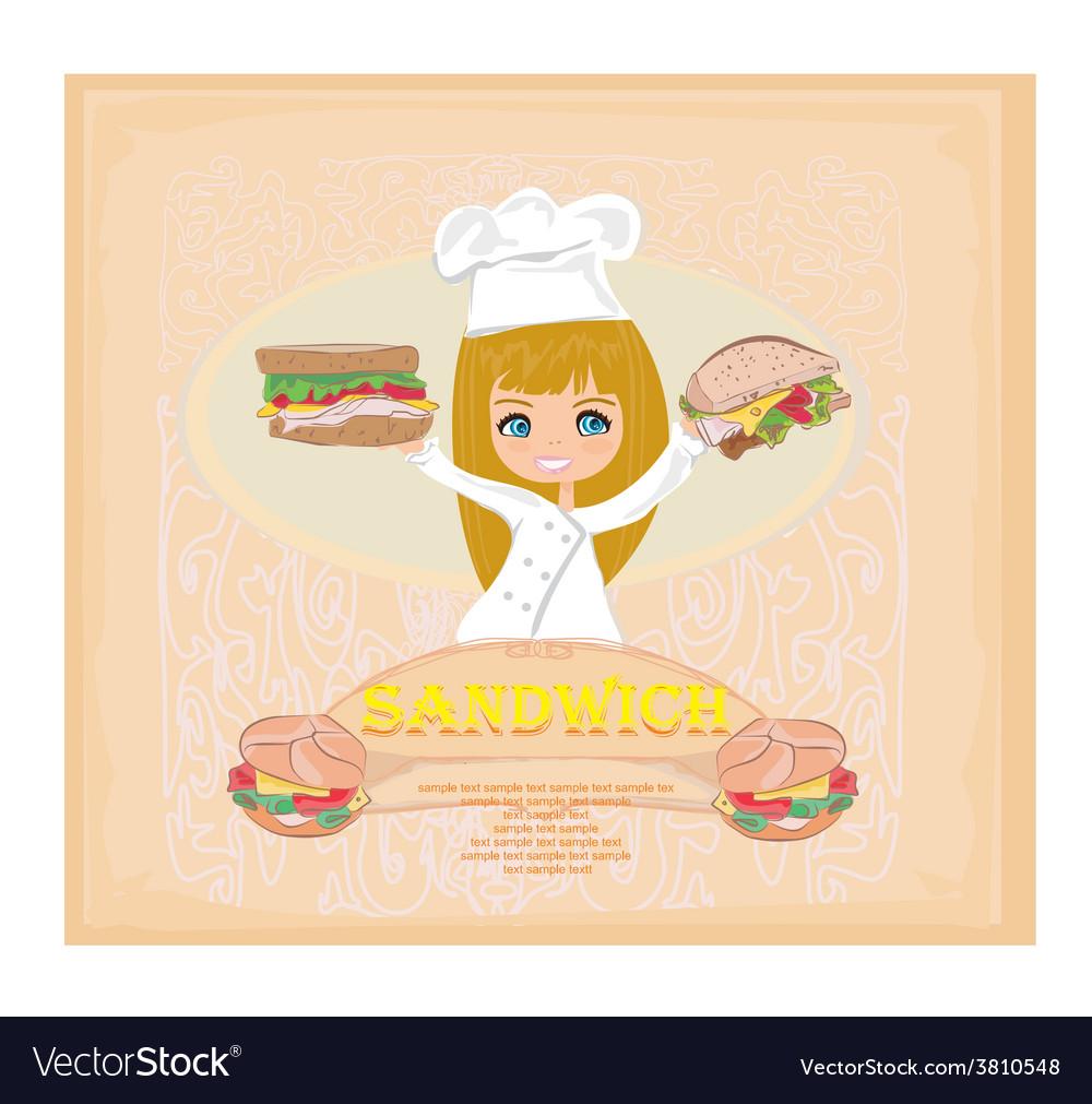 Template designs of fast food menu vector image