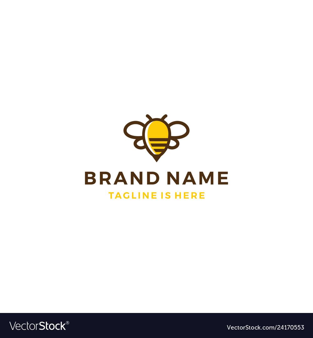 Bumble bee honey hive logo template