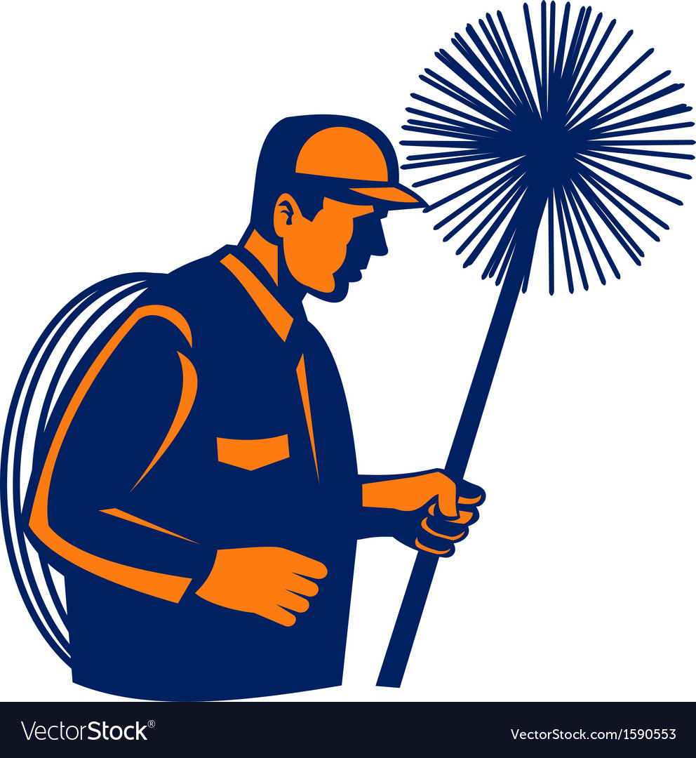 Chimney sweeper or cleaner vector image