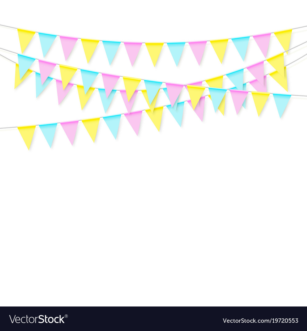Colorful realistic soft colorful flag garland