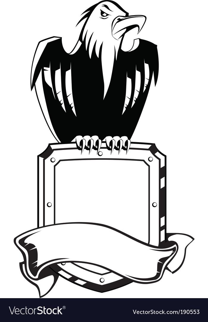 Eagle shield emblem