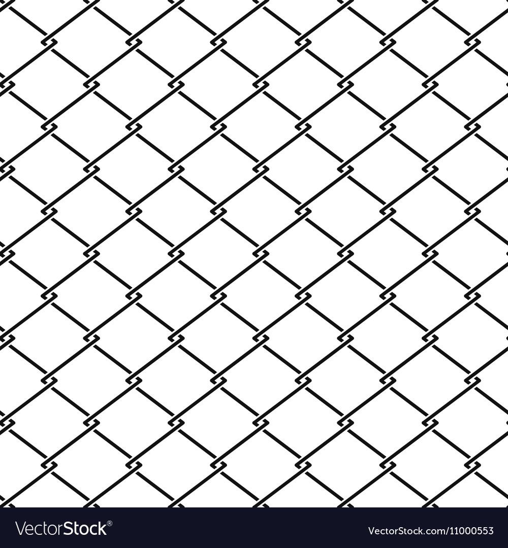 Fence steel netting seamless pattern