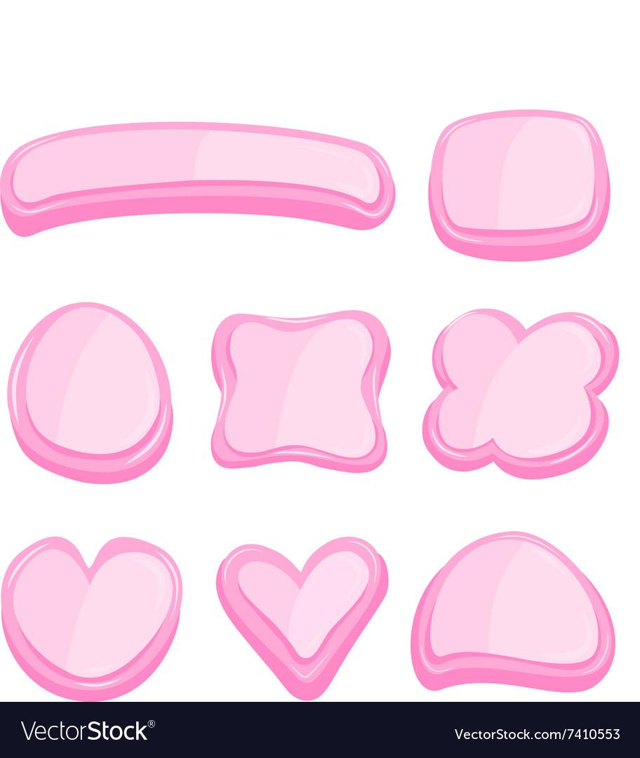 Set of pink frame vector image