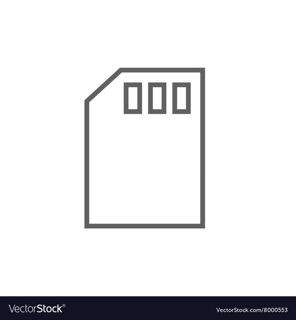 Sim card line icon