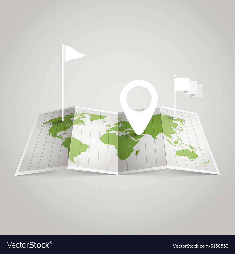 World map with different marks vector image