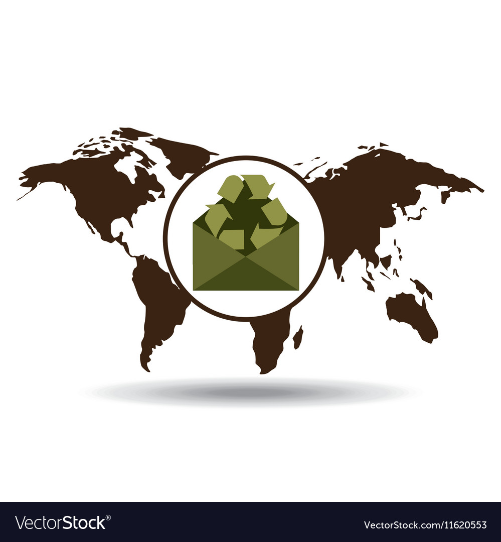World recycling design graphic vector image