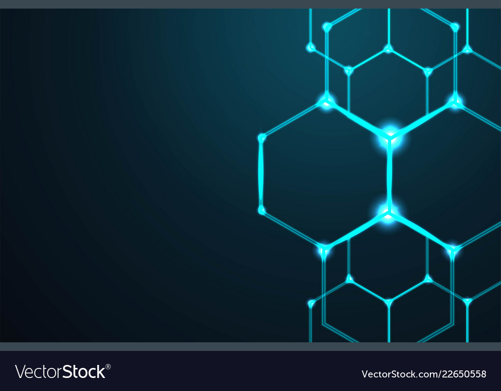 Abstract hexagon background technology polygonal