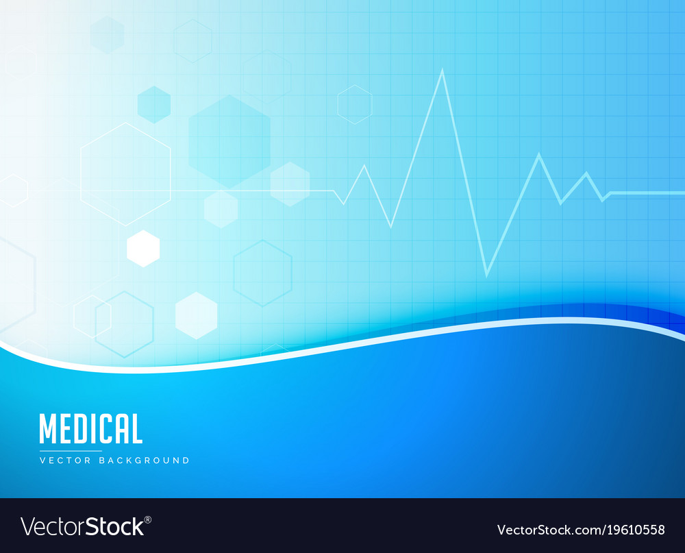 blue medical background concept poster design vector image