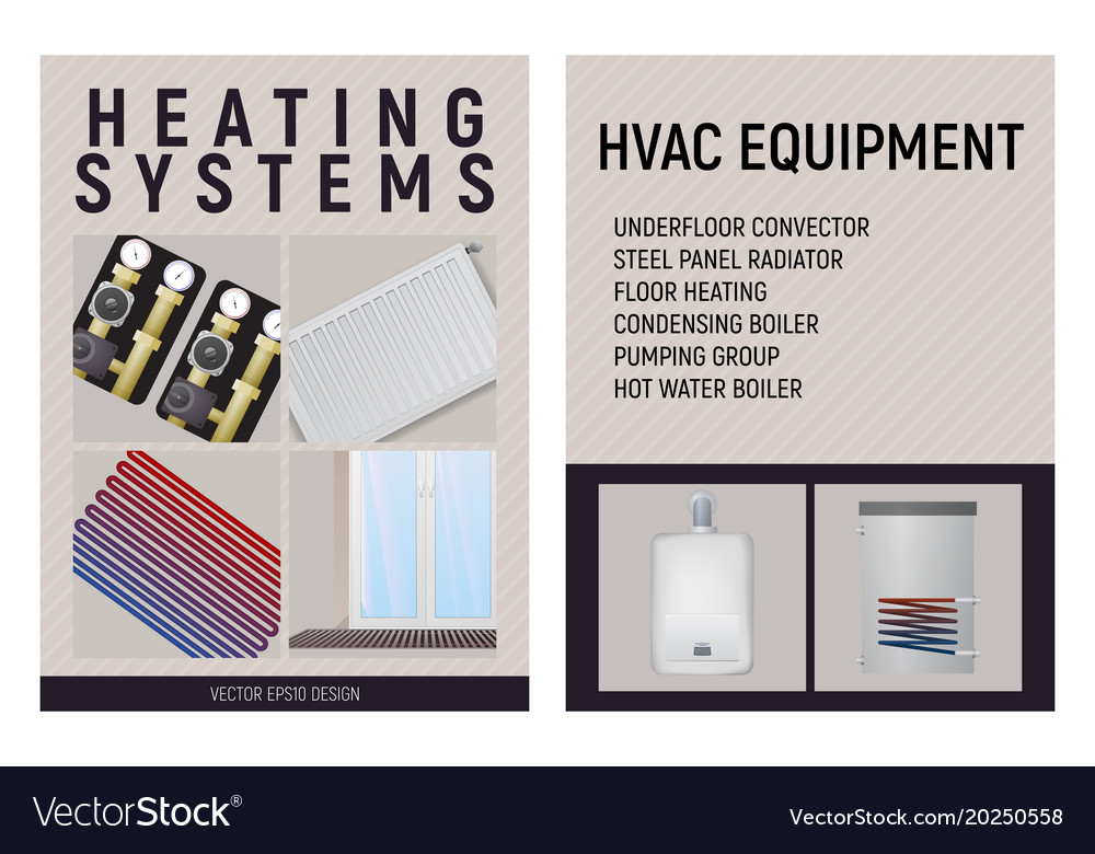 Central heating system design Royalty Free Vector Image