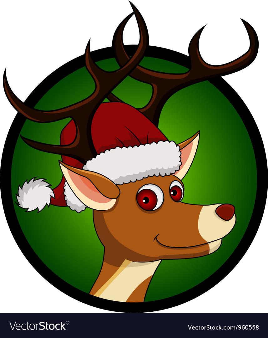 Deer head cartoon vector image