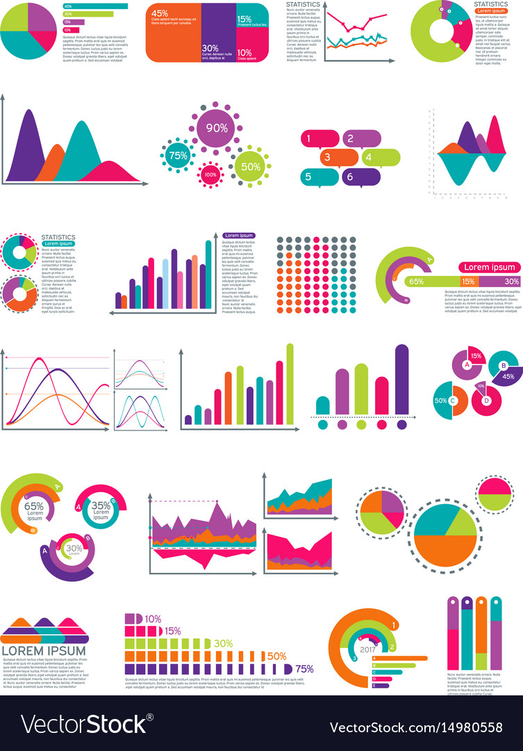 elements of infographic with flowchart royalty free vector