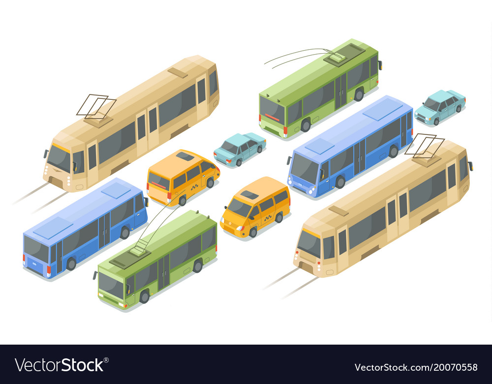 Isometric public and passenger transport