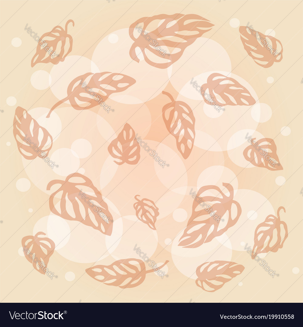 Pattern Of Leaves Monstera On Pale Pink Background Vector Image