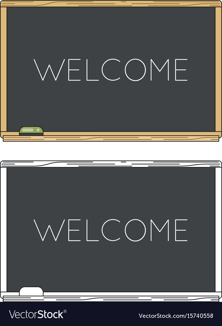 School board lineart education icon background vector image