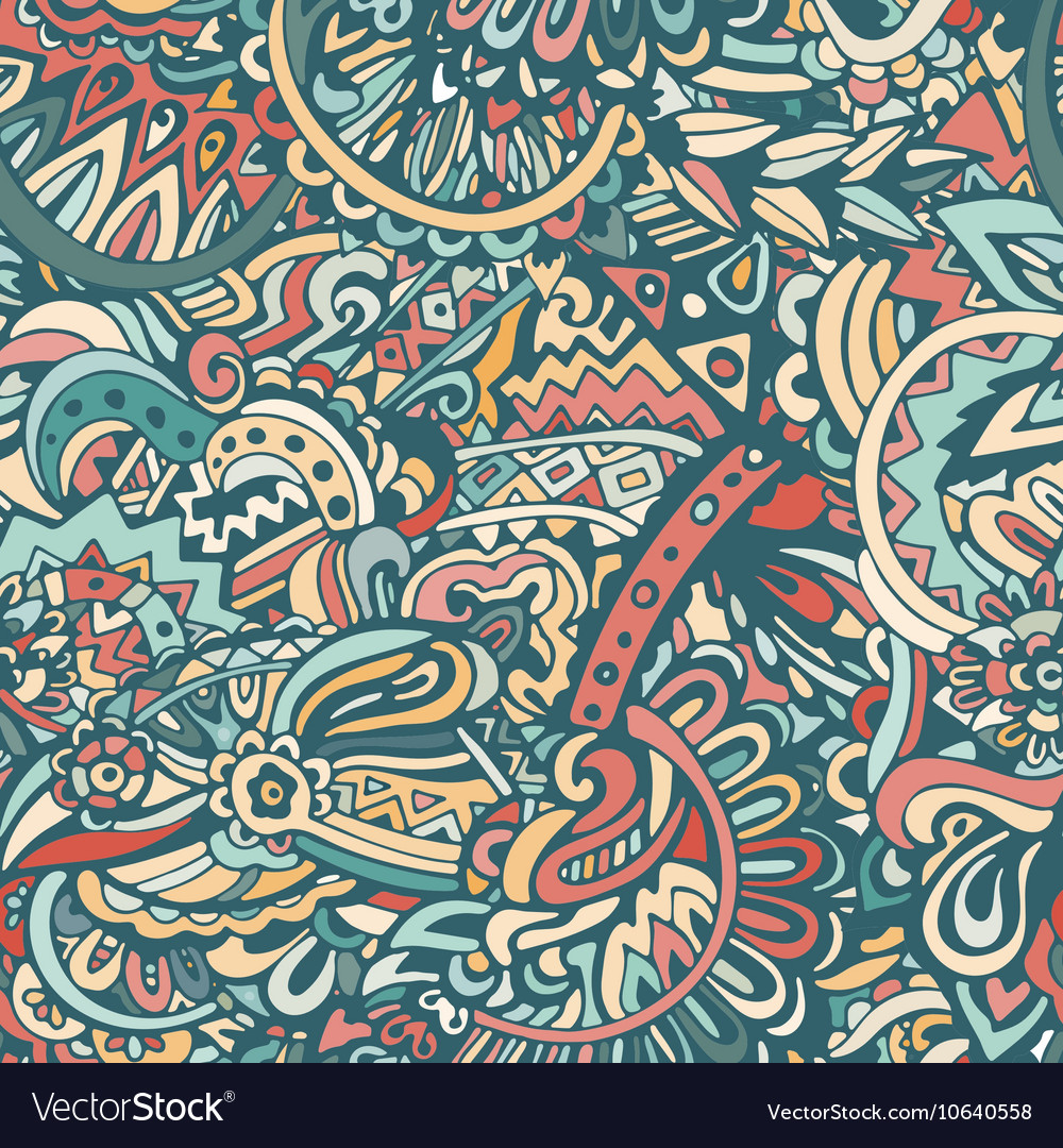 Seamless pattern doodle background