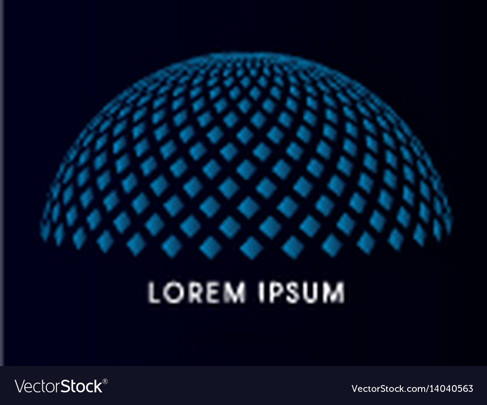 Abstract building dome vector image