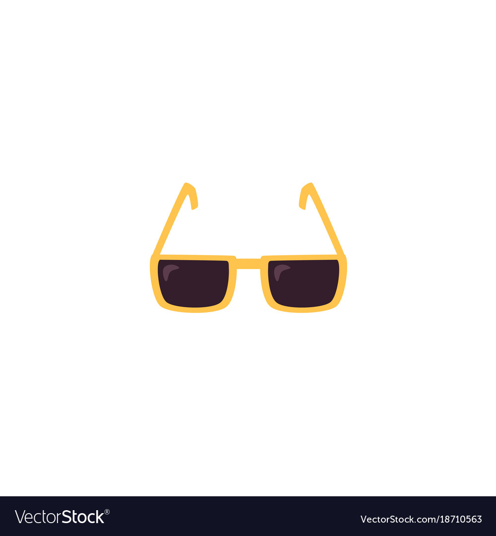Flat sunglasses isolated vector image