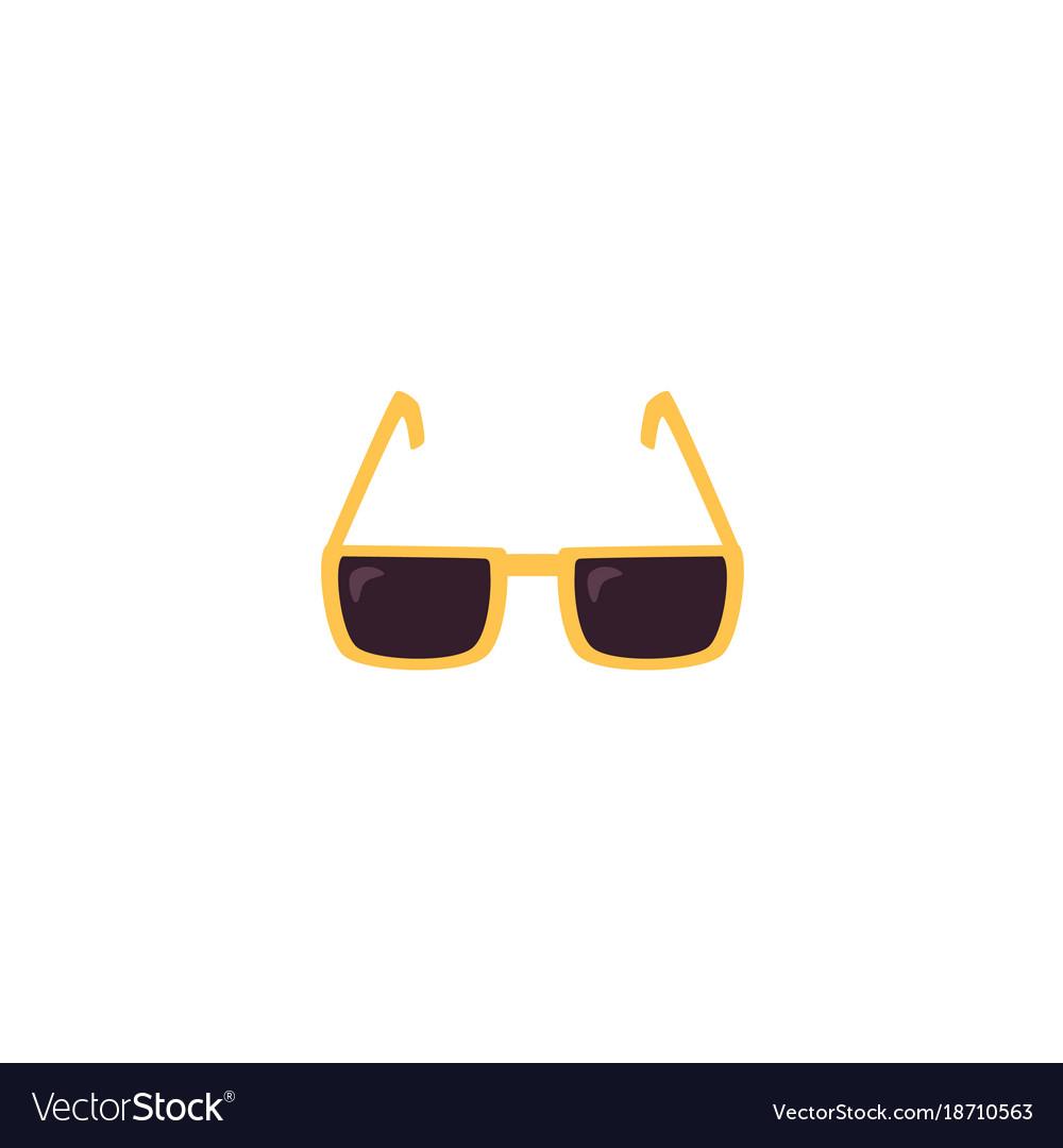 Flat sunglasses isolated