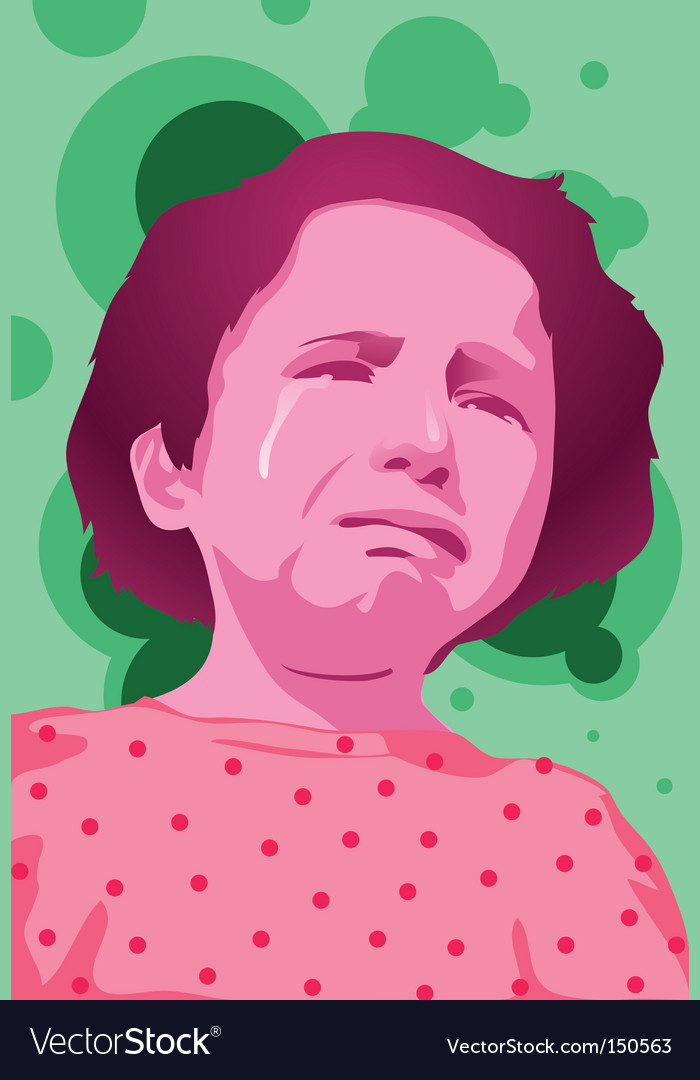 Girl cry vector image