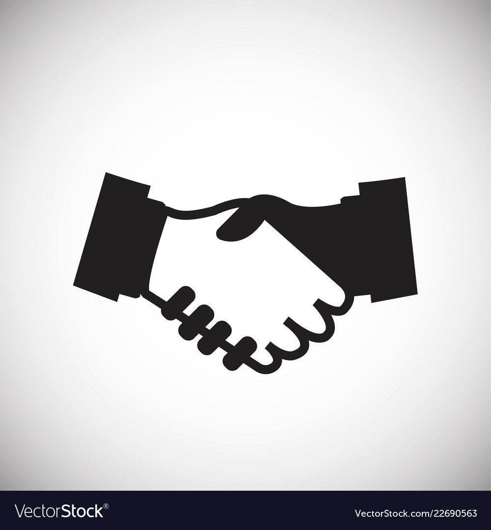 hand shaking partners on white background vector image