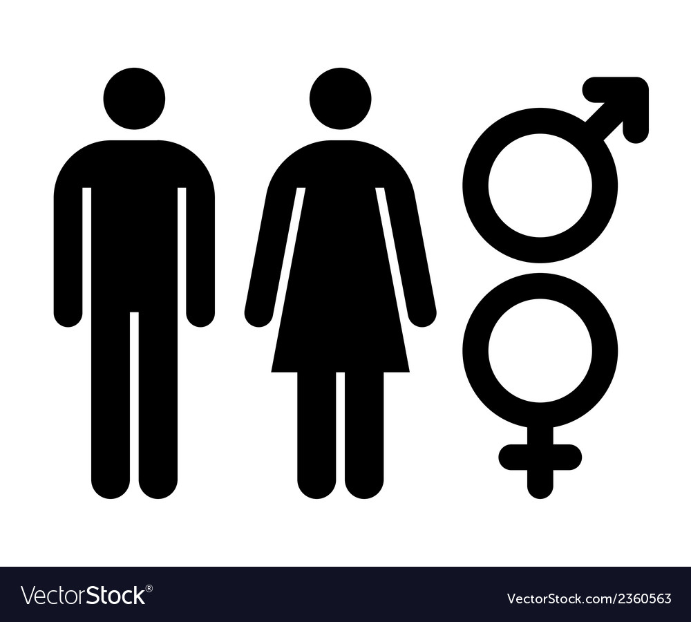 Male And Female Sign Gender Symbol Royalty Free Vector Image