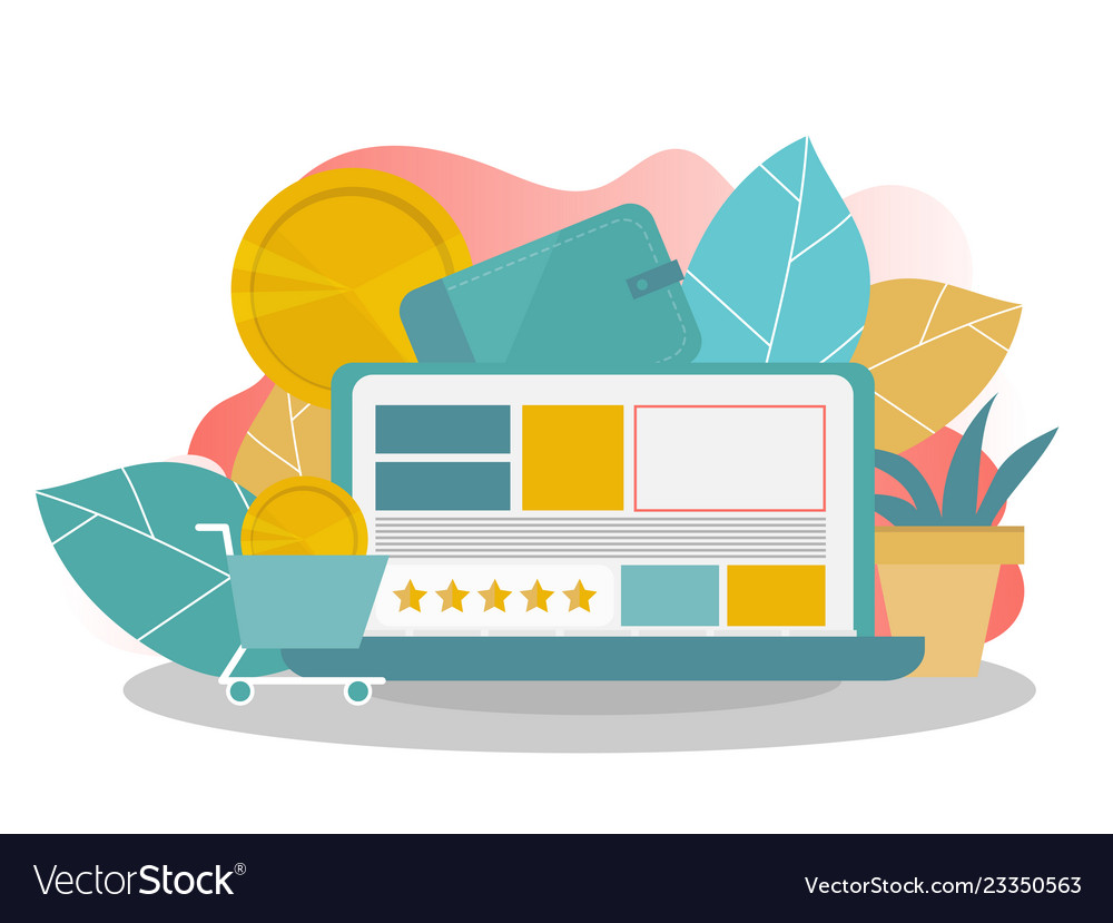 Online shopping landing page template modern