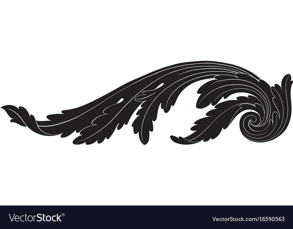 ornament in baroque style for filigree royalty free vector rh vectorstock com filigree factory shop filigree factory shop ripley