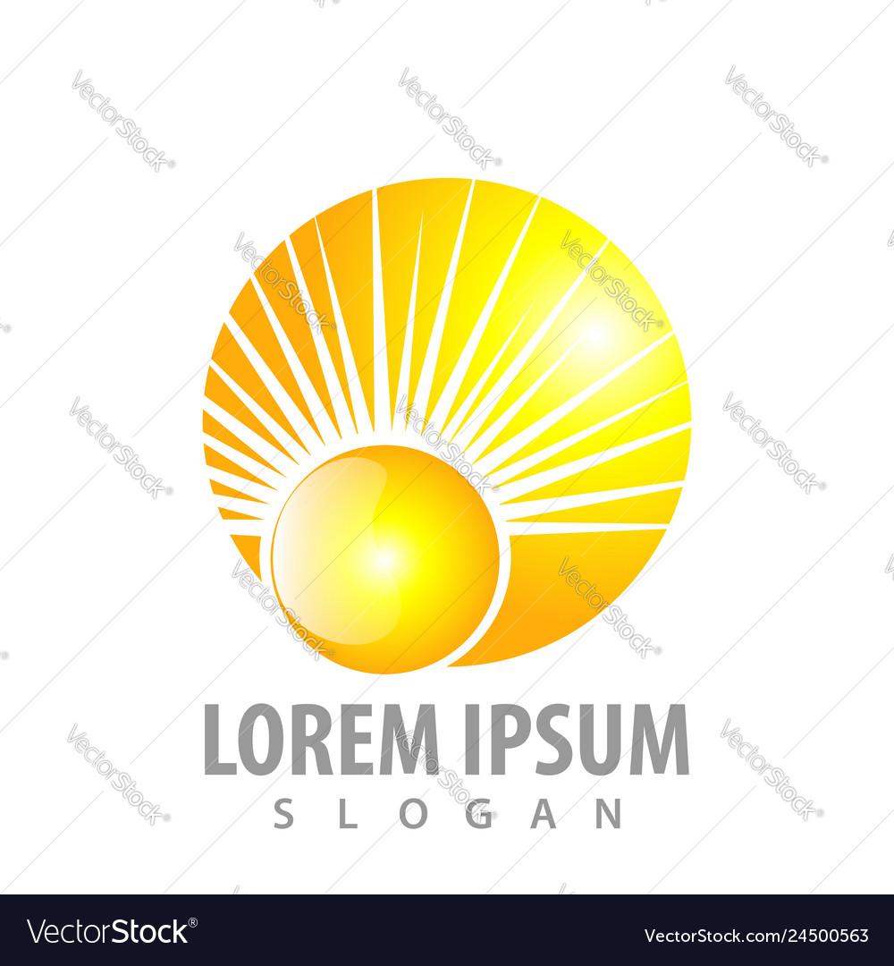 Shiny sunlight concept design symbol graphic