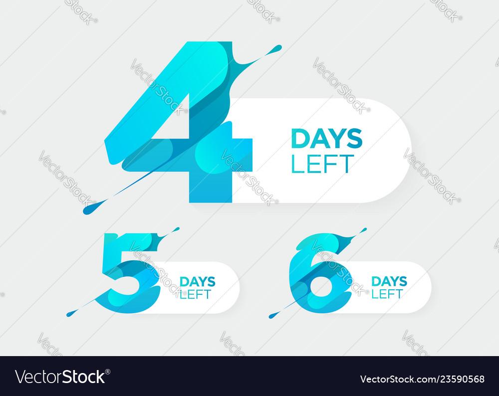 4 5 6 days left futuristic numbers sale