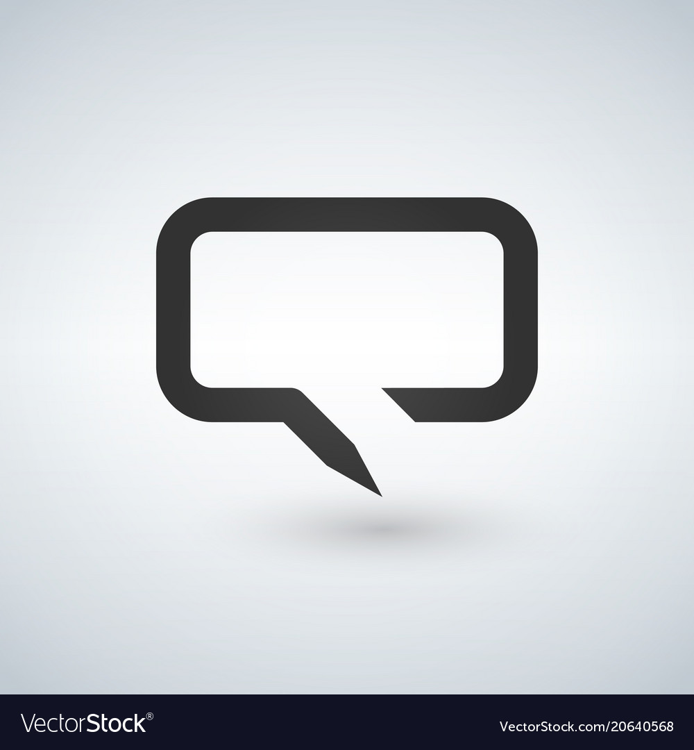 Chat bubble line simple icon outline sign linear