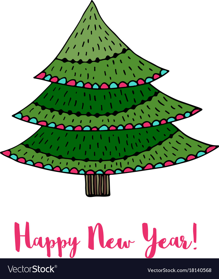 New Year Tree Cartoon / ✓ free for commercial use ✓ high quality images.