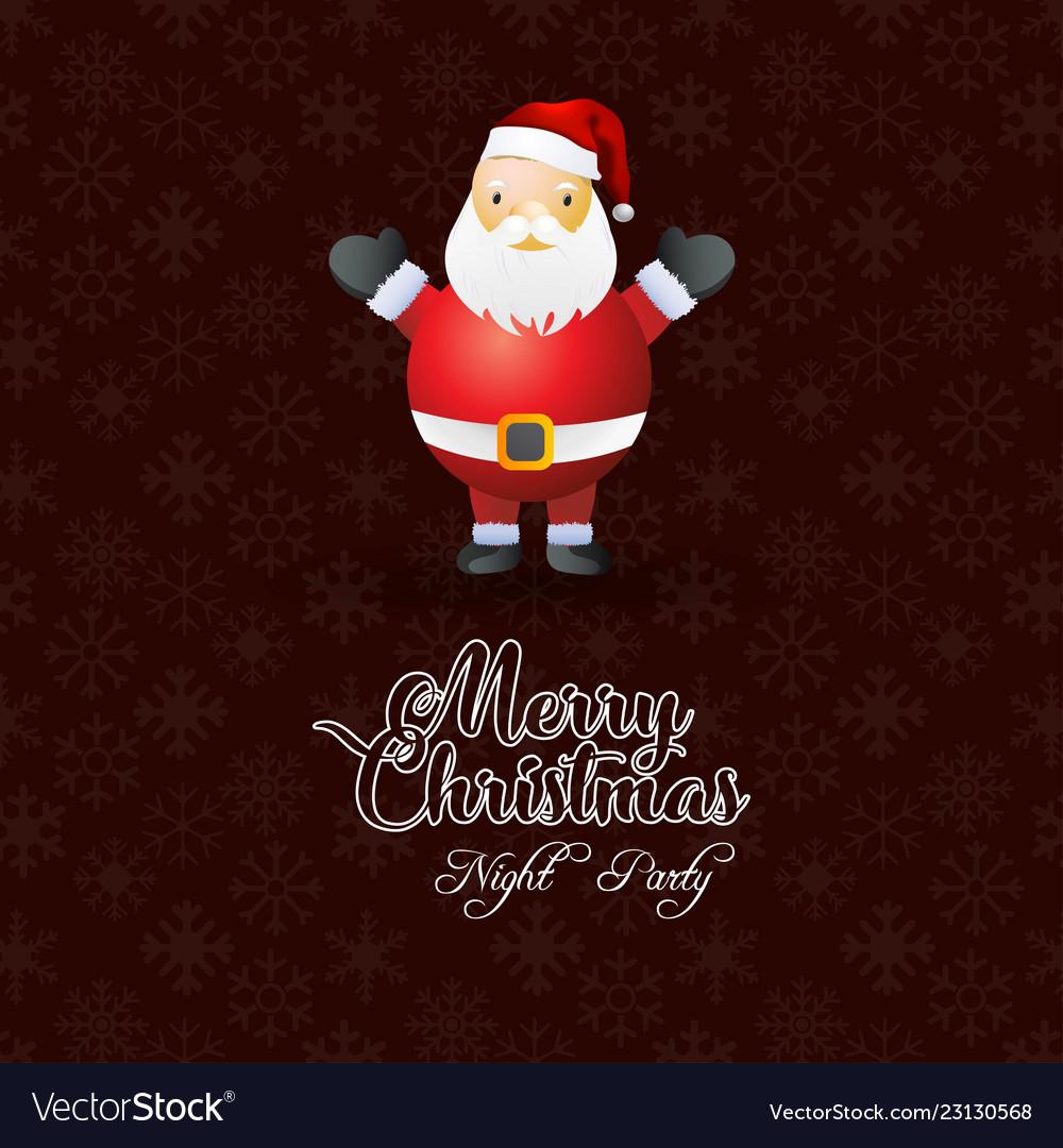 Merry christmas santa claus background