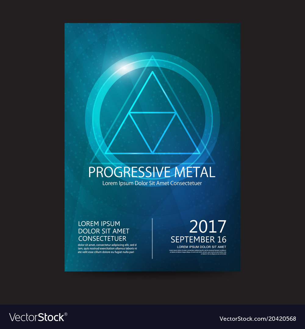 Progressive metal music festival sound poster vector image