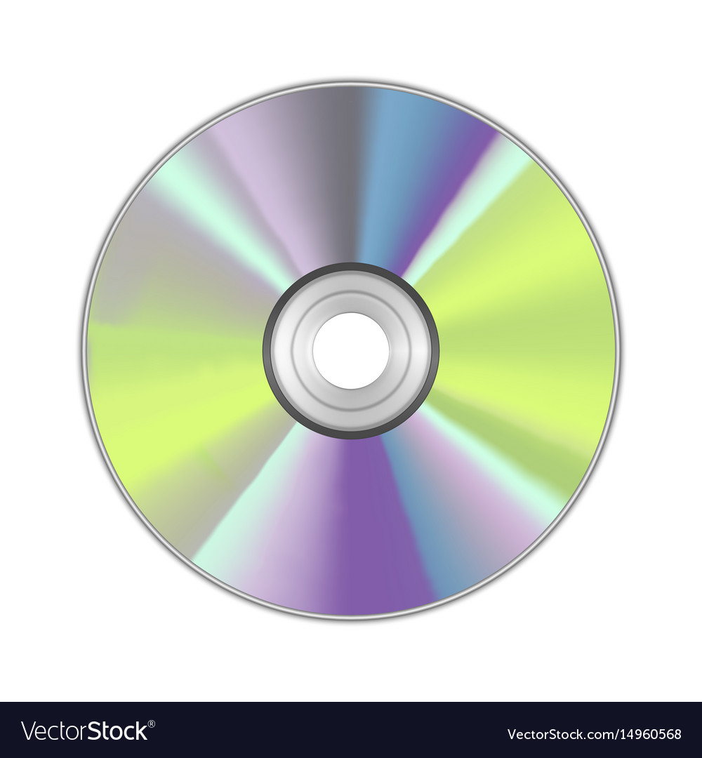 Realistic detailed round cd disk