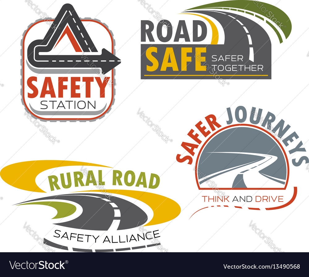 Road highway sign for transportation theme design